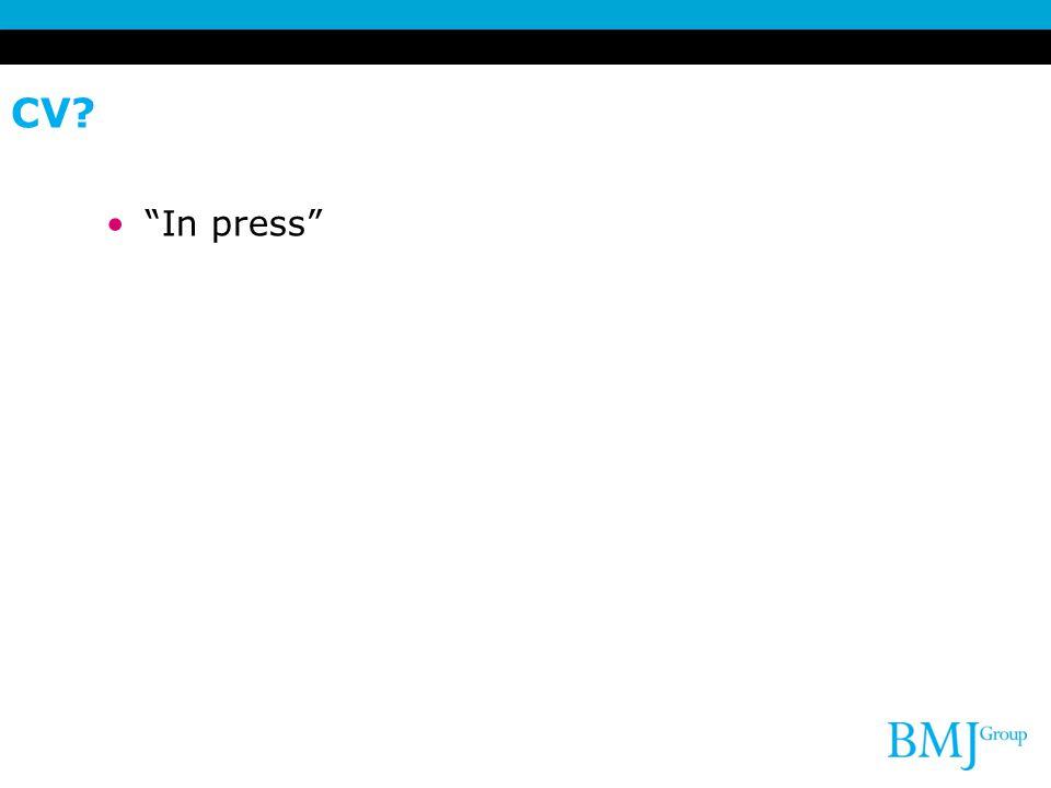 CV In press