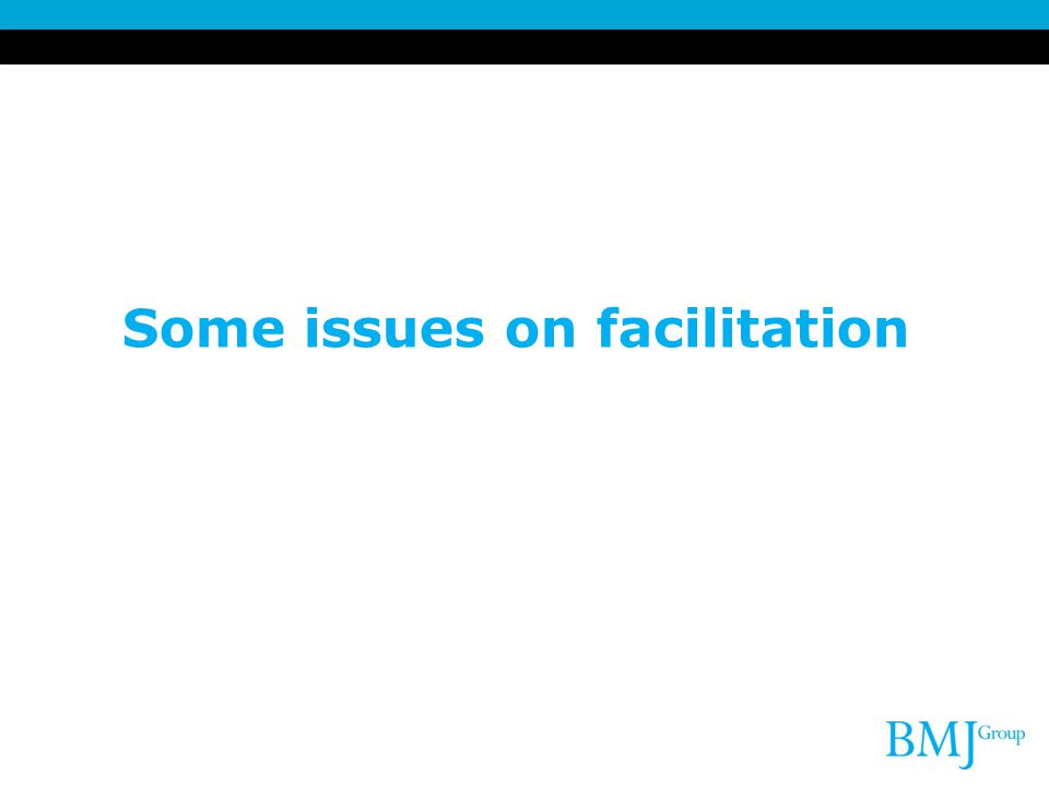 Some issues on facilitation