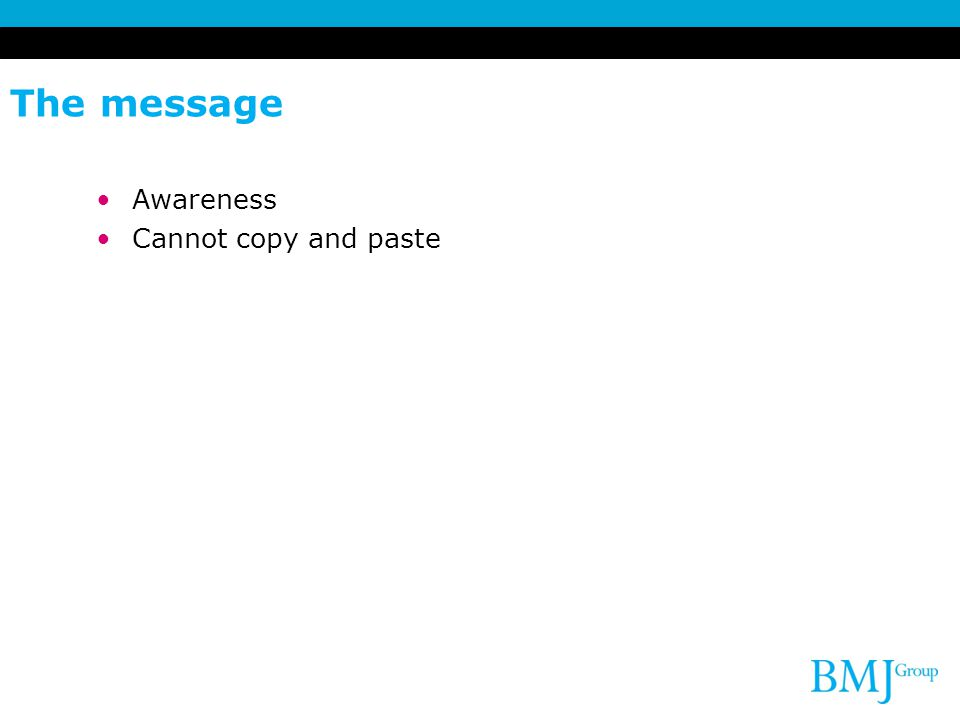 The message Awareness Cannot copy and paste