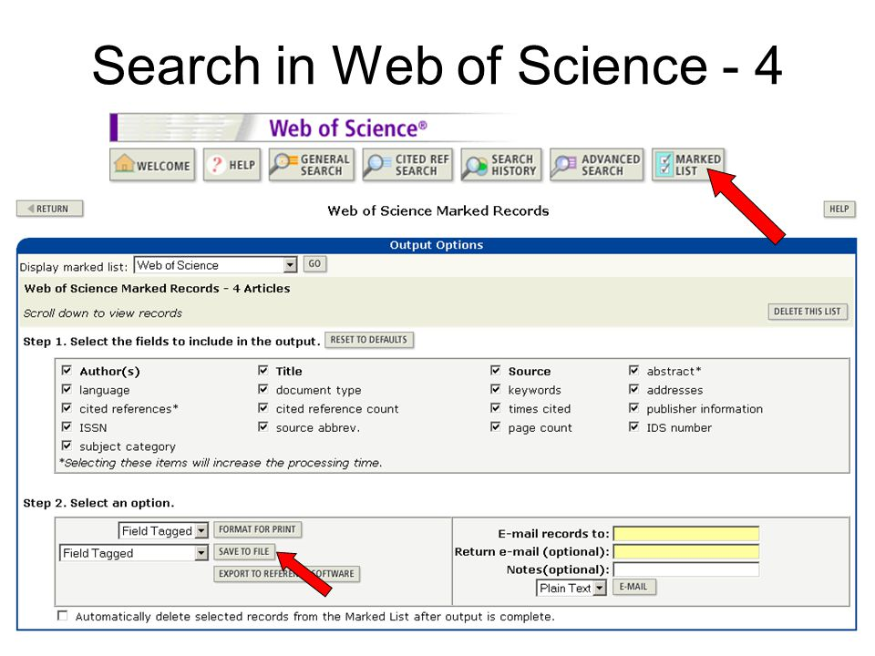 Search in Web of Science - 4