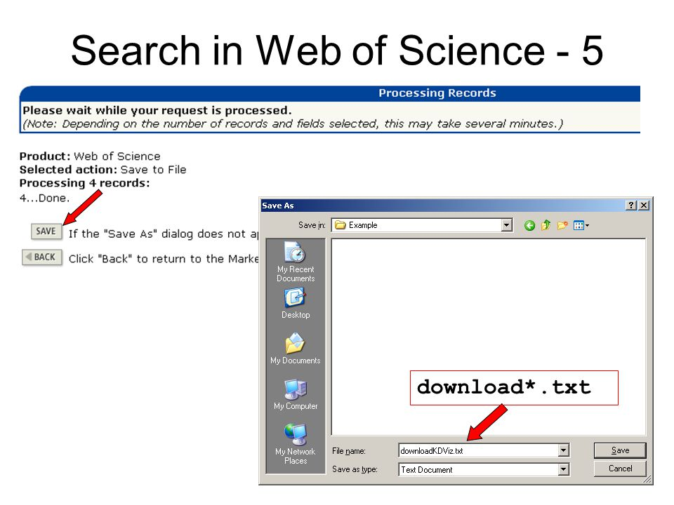 Search in Web of Science - 5 download*.txt