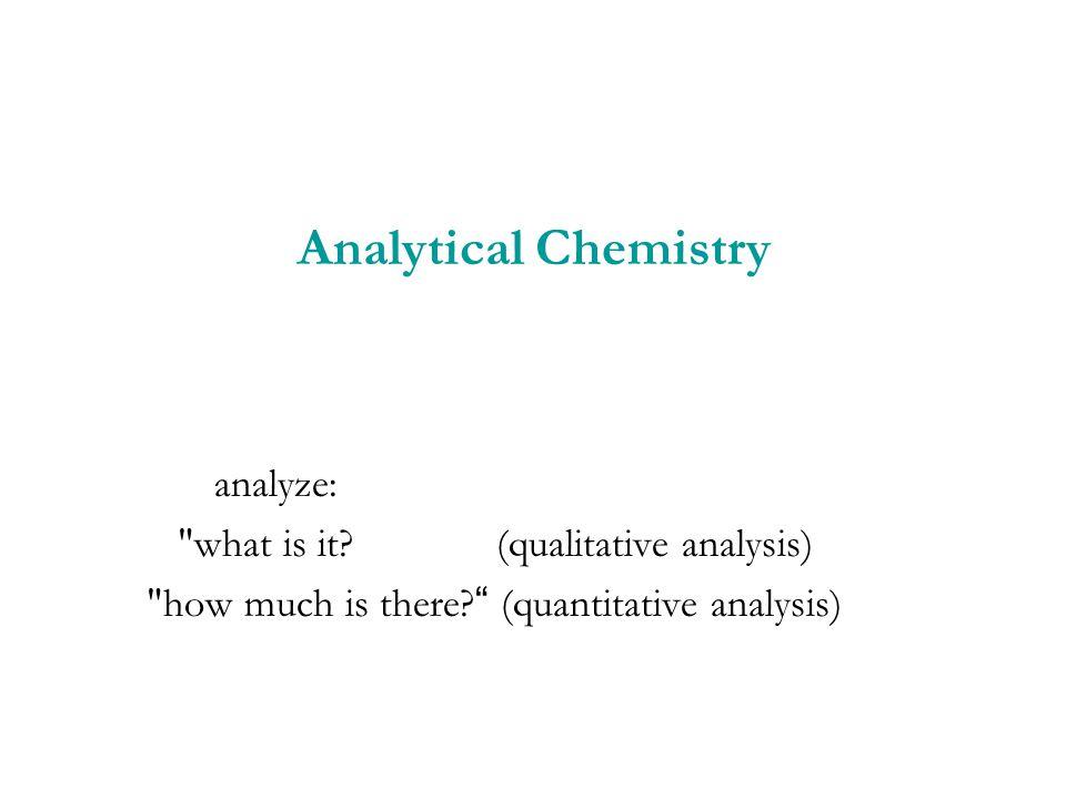 Analytical Chemistry analyze: