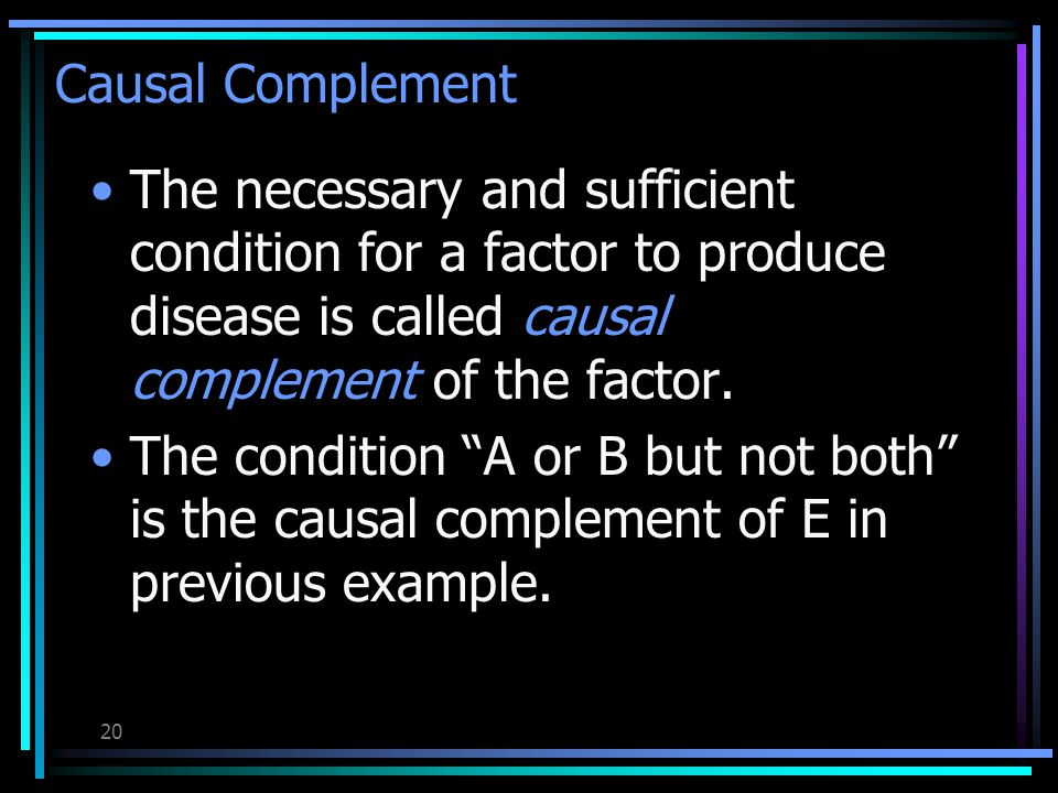 19 Although the members of these populations have exactly the same causal mechanisms operating within them, the relative strength of factors E and B are completely different in them