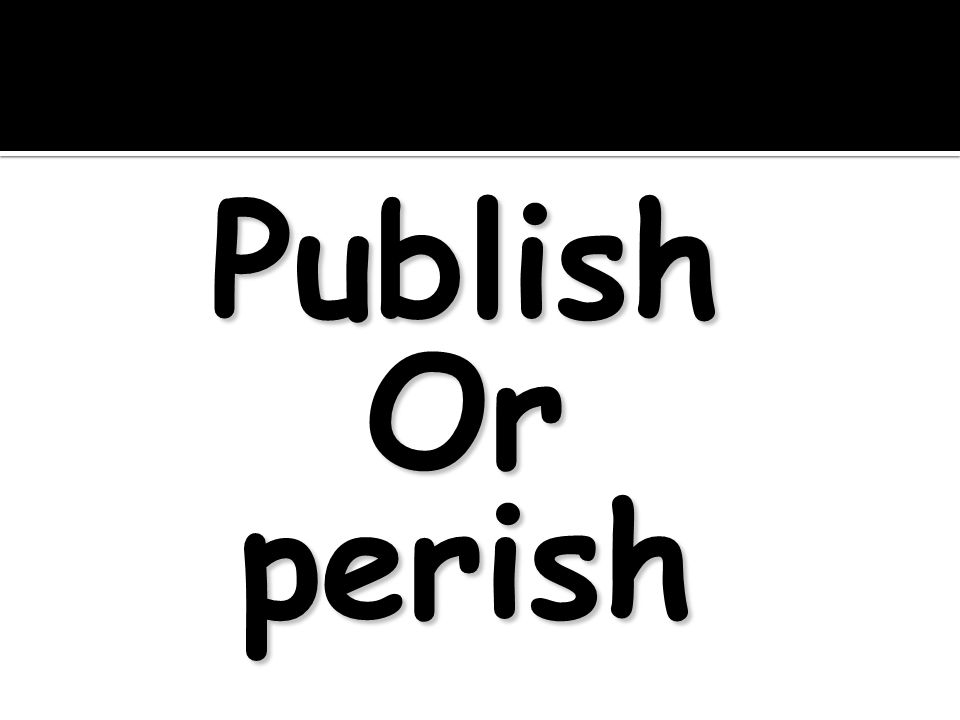 PublishOrperish