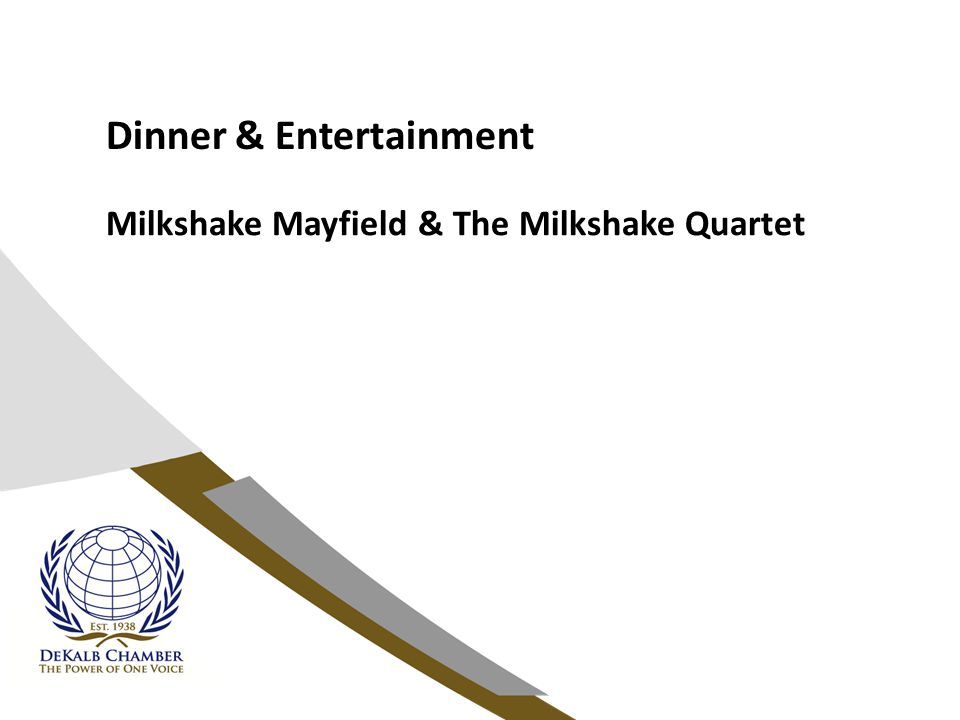 Dinner & Entertainment Milkshake Mayfield & The Milkshake Quartet