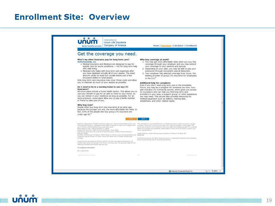 19 Enrollment Site: Overview