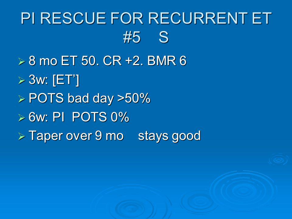 PI RESCUE FOR RECURRENT ET #5 S  8 mo ET 50. CR +2.
