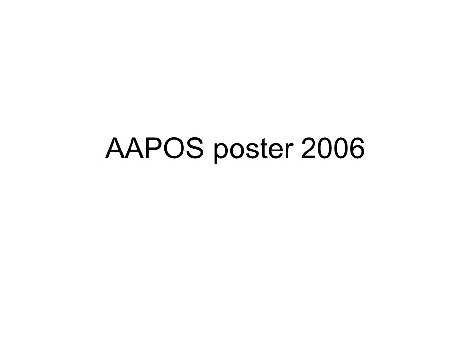 AAPOS poster 2006