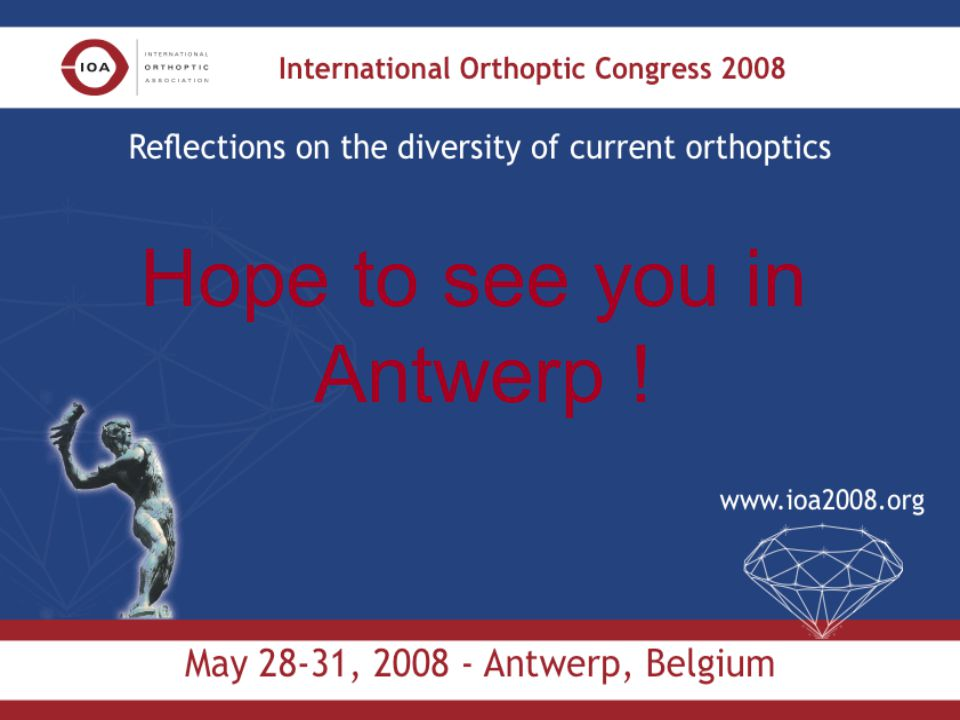 Hope to see you in Antwerp !