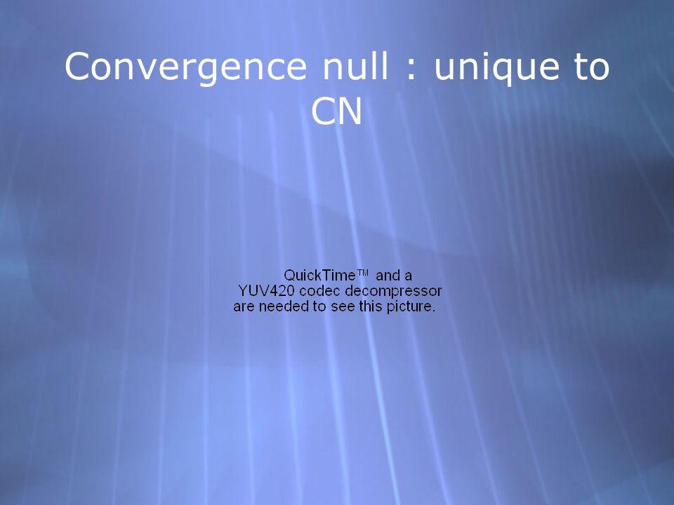 Convergence null : unique to CN