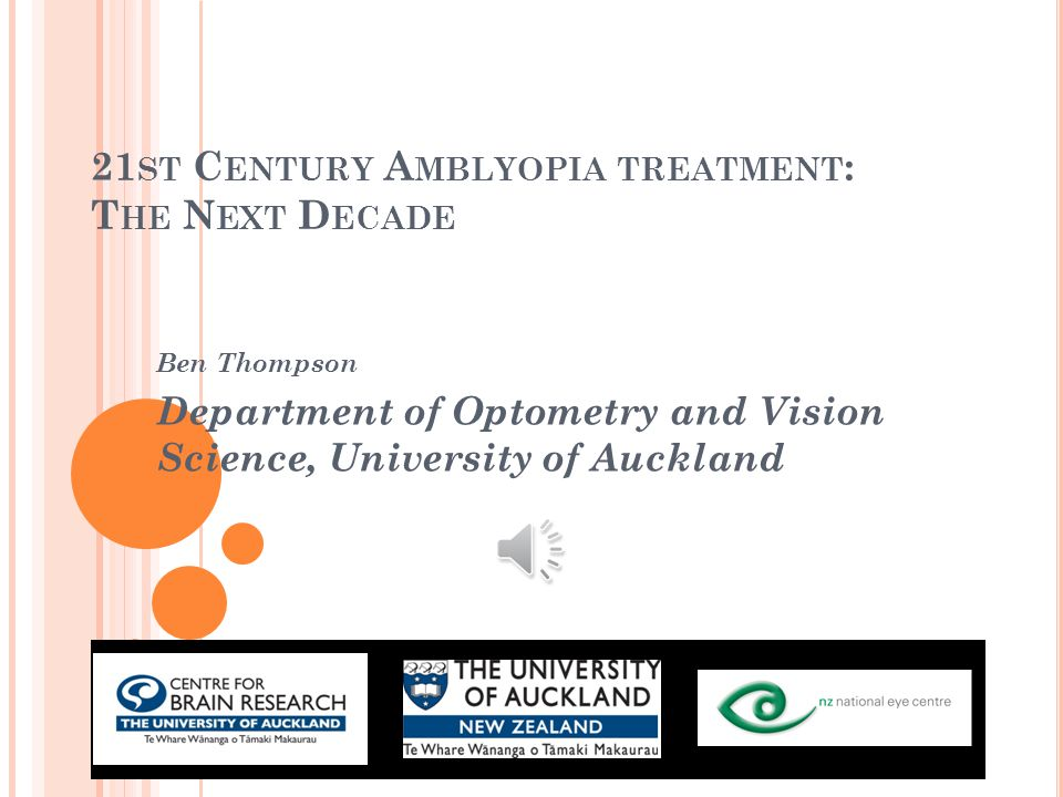 P OST D ARWINIAN TREATMENTS : 2. D RUGS Levodopa has a 25y history in amblyopia treatment 2010 study: 9 weeks + 3h/d prescribed occlusion 33 older chi