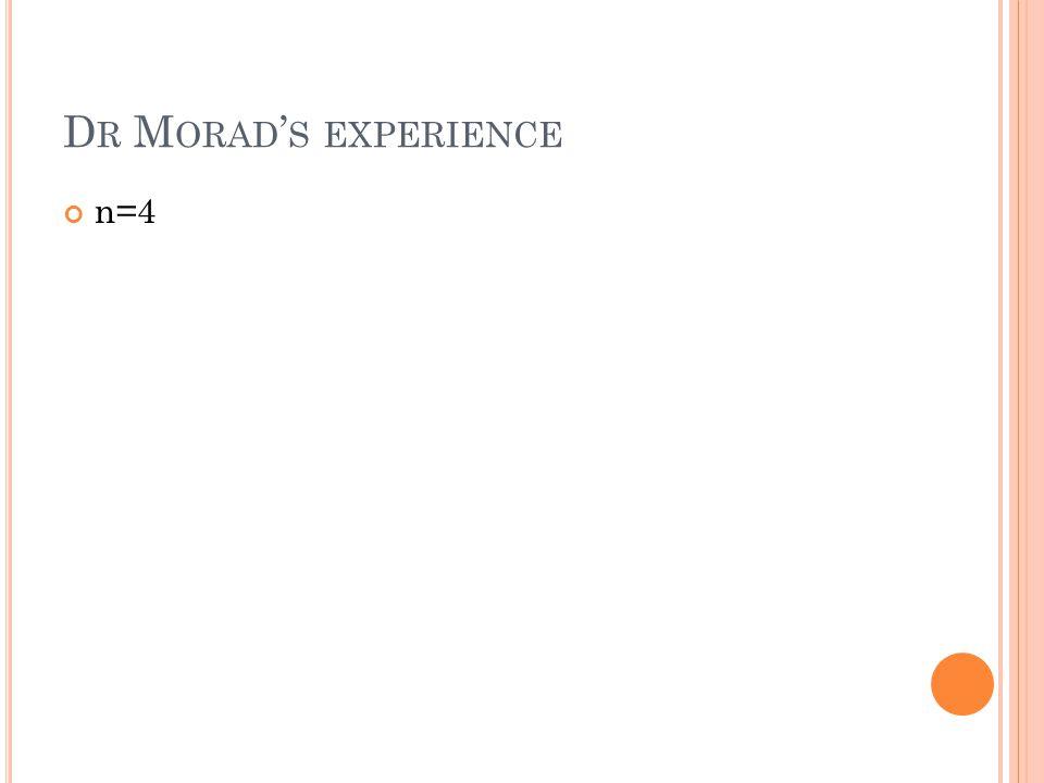 D R M ORAD ' S EXPERIENCE n=4