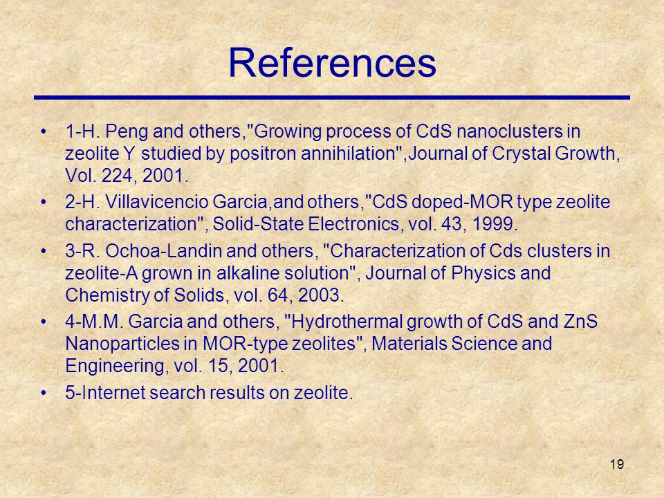 19 References 1-H.