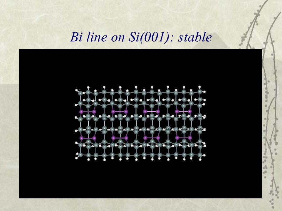 Bi line on Si(001): stable