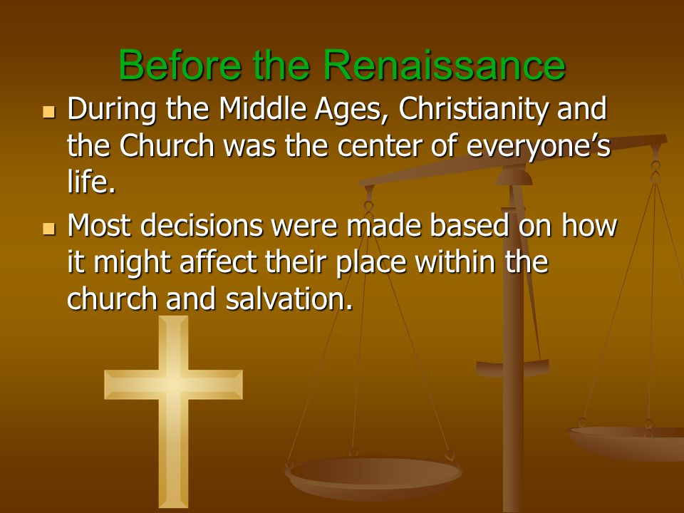 During the Renaissance… A new movement began that focused on what was happening within the world.