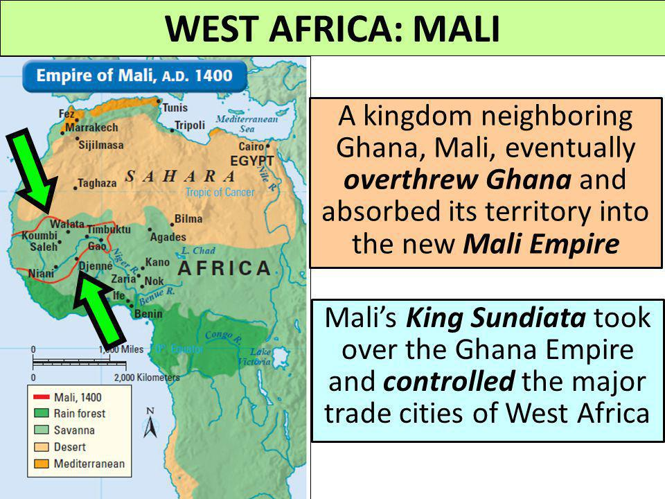 WEST AFRICA: GHANA By the year 800 CE, Ghana was the most powerful empire in Africa Ghana's kings were not merely rulers; they served as judges, relig