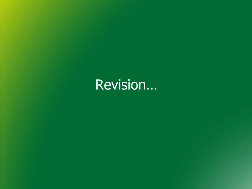 Revision…