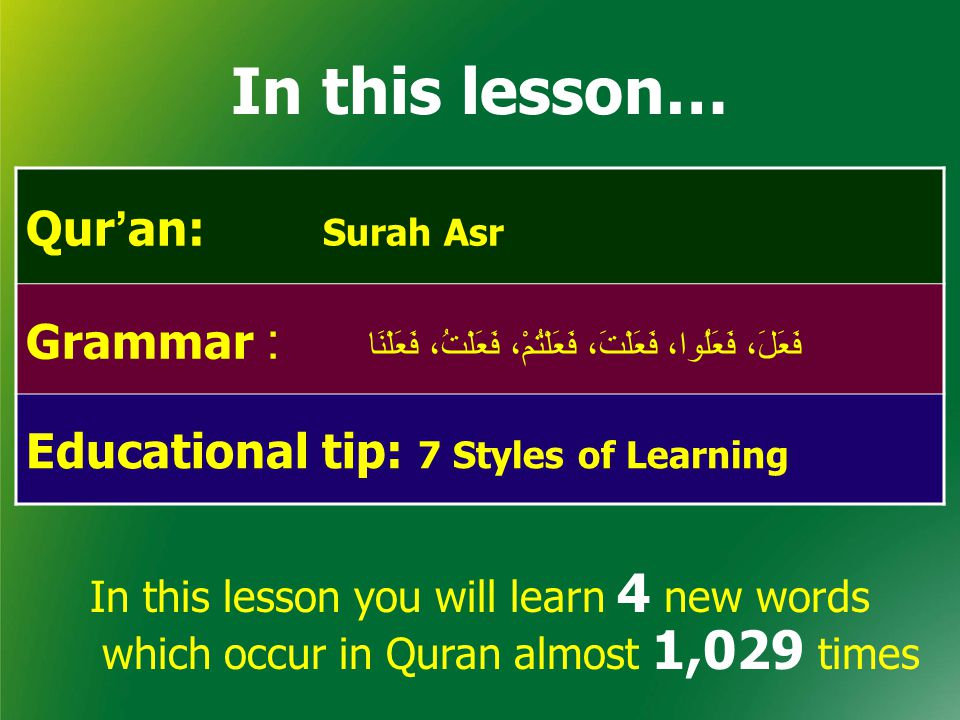  Understand Qur'an & Salah The Easy Way Lesson -8