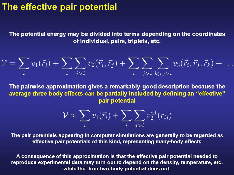 Separation of the Lennard-Jones potential into attractive and repulsive components Attractive tail at large separations, due to correlation between electron clouds surrounding the atoms Steeply rising repulsive wall at short distances, due to non-bonded overlap between the electron clouds