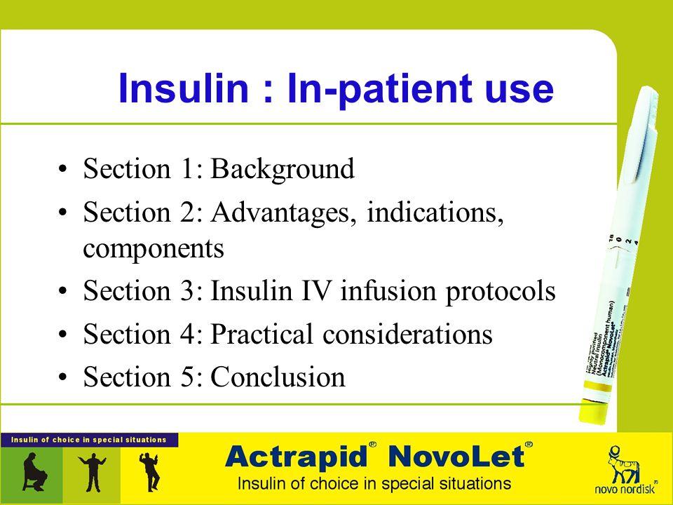 Insulin : In-patient use Novo Nordisk India, Bangalore