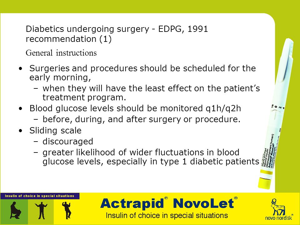 Recommended infusion algorithms For diabetics undergoing surgery –European Diabetes Policy Group, 1991 Clinical Outcome Studies –Post-CABG 'Portland'