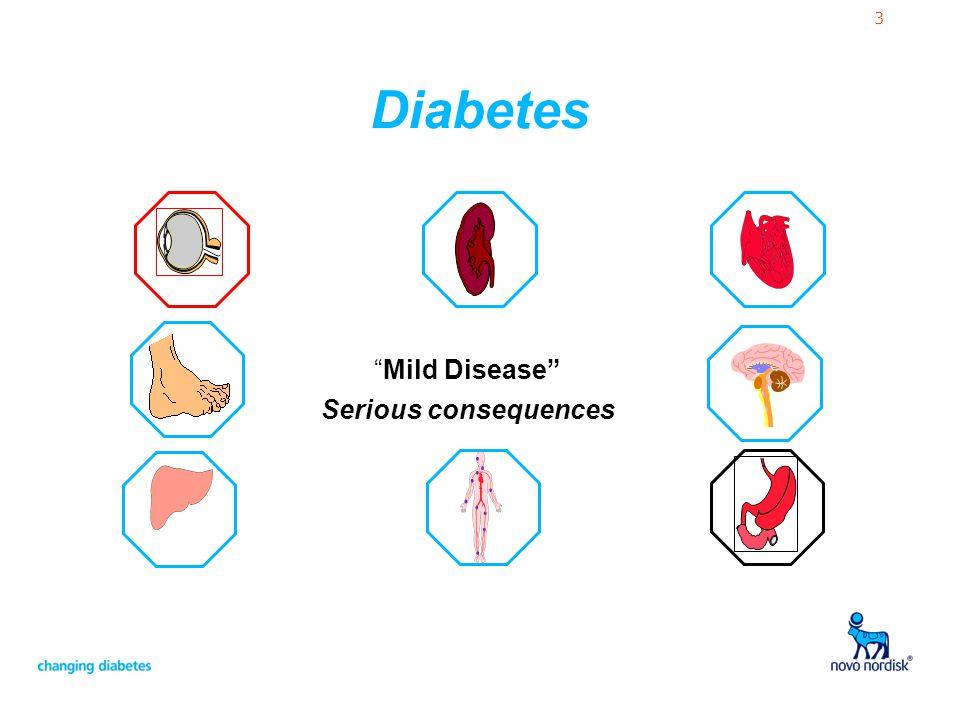 "3 Diabetes ""Mild Disease"" Serious consequences"