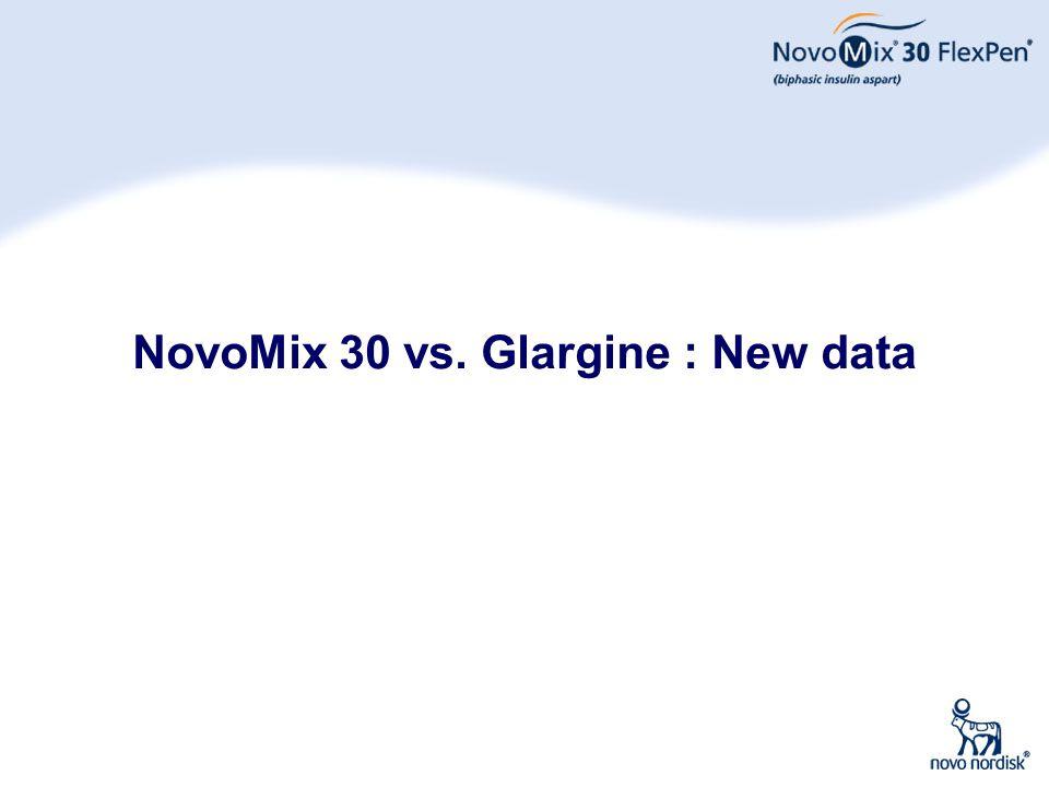 30 NovoMix 30 vs. Glargine : New data