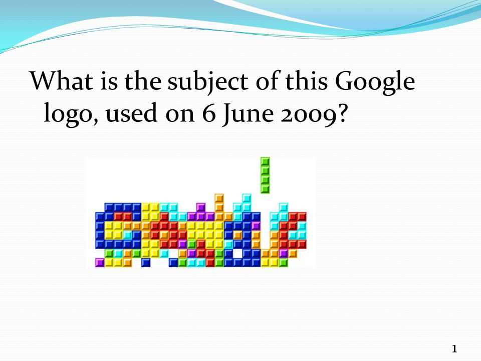 What is the subject of this Google logo, used on 6 June 2009? 1
