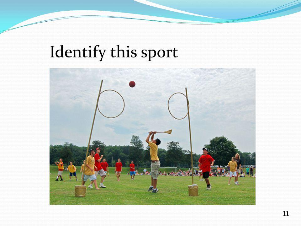 Identify this sport 11
