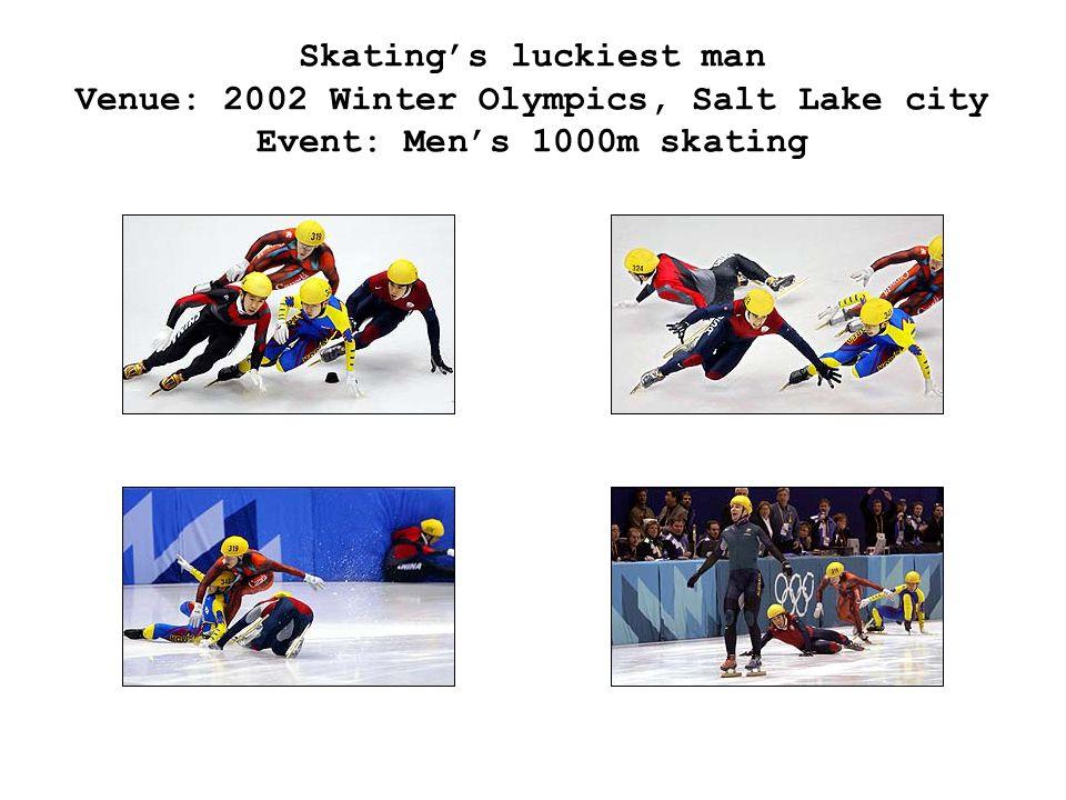 Skating's luckiest man Venue: 2002 Winter Olympics, Salt Lake city Event: Men's 1000m skating