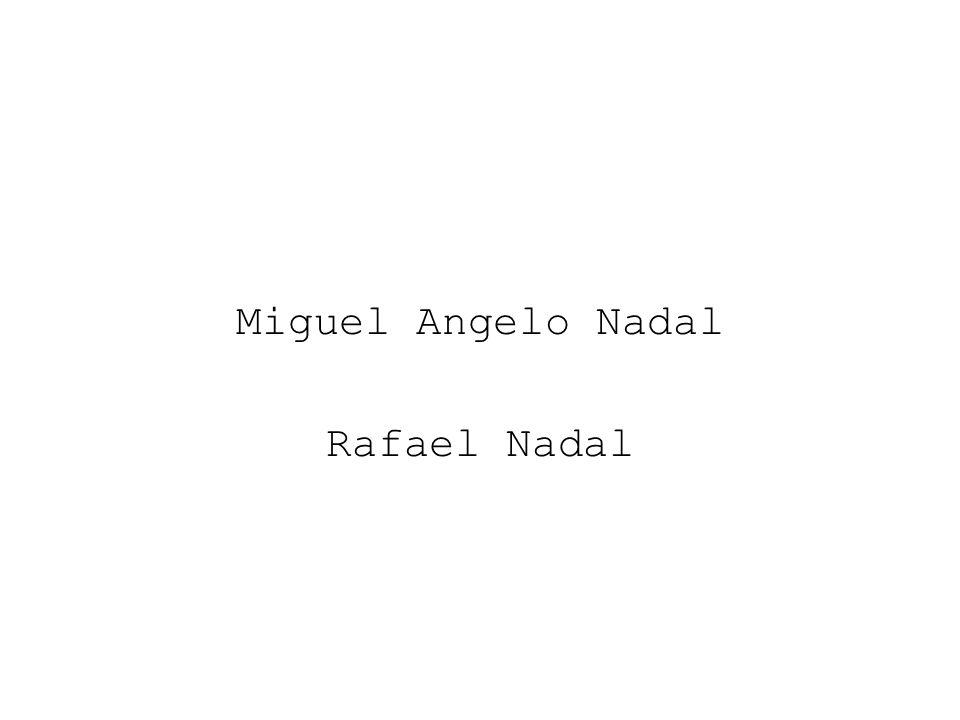 Miguel Angelo Nadal Rafael Nadal