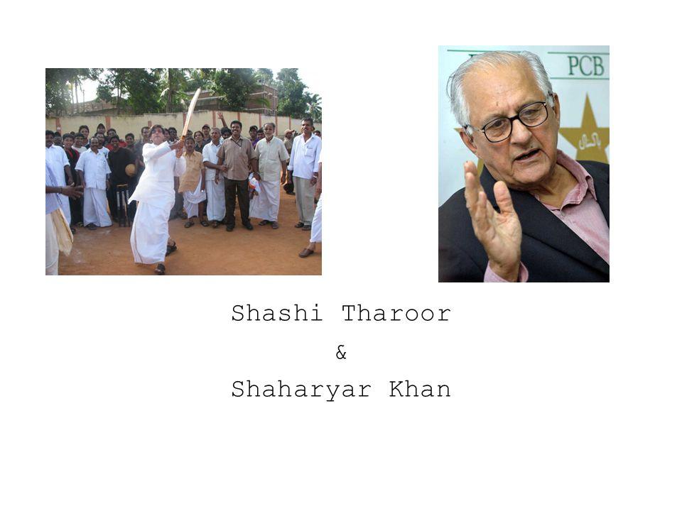 Shashi Tharoor & Shaharyar Khan