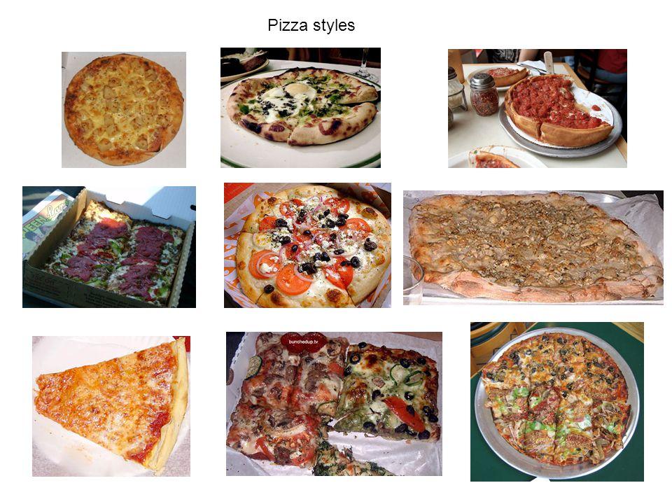 Pizza styles