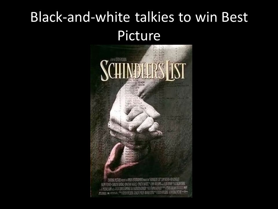 Black-and-white talkies to win Best Picture