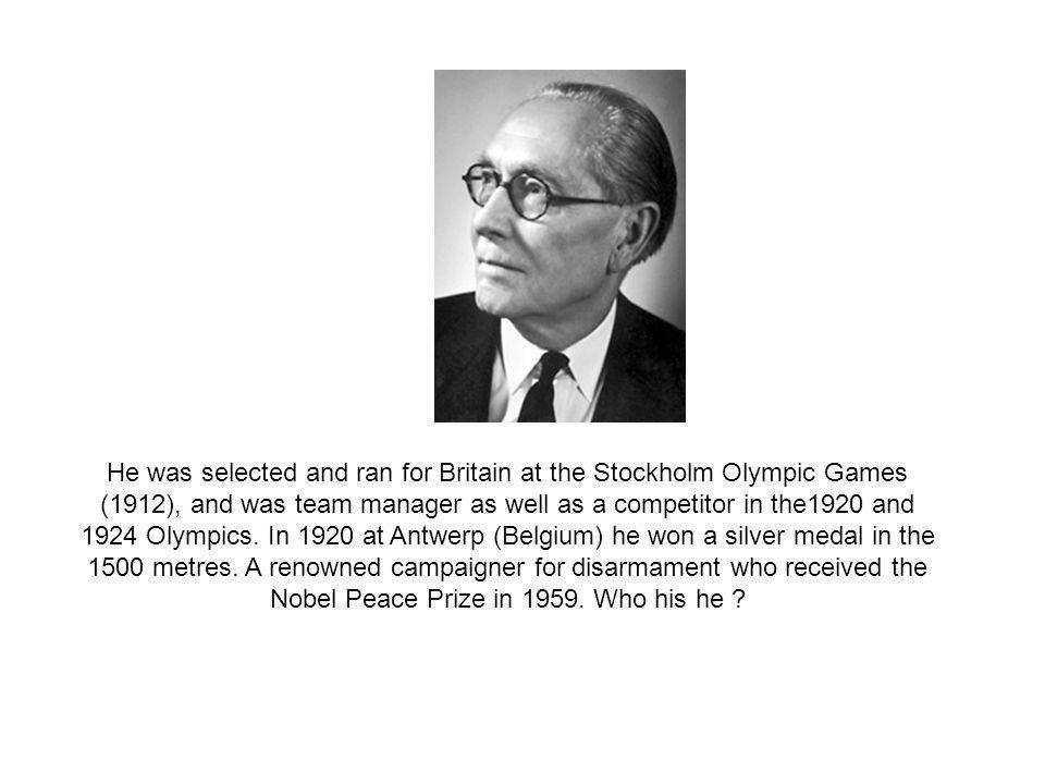 He was selected and ran for Britain at the Stockholm Olympic Games (1912), and was team manager as well as a competitor in the1920 and 1924 Olympics.