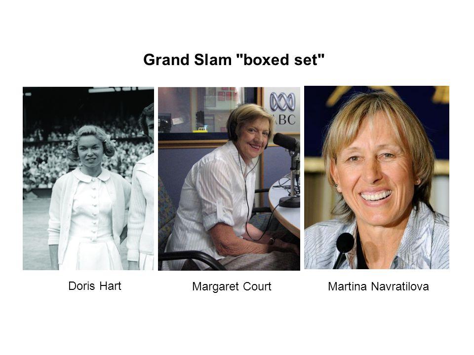 Grand Slam boxed set Margaret Court Doris Hart Martina Navratilova