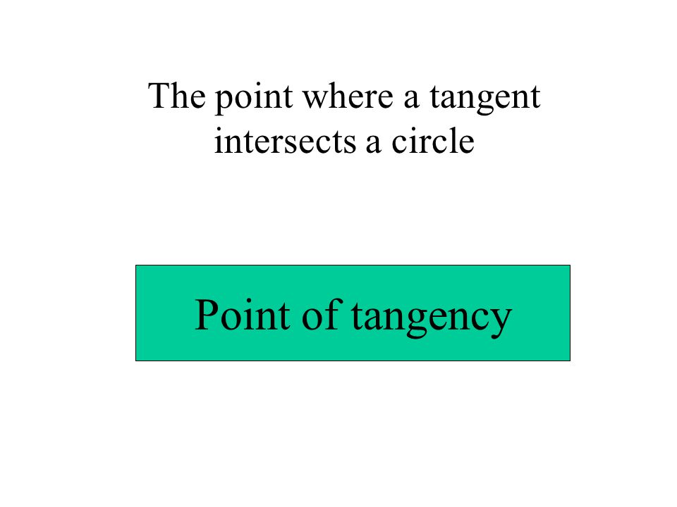 A line that is tangent to more than one circle and crosses in between the two circles.