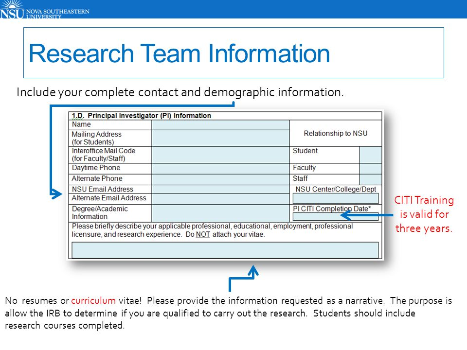 Include the complete contact information for your co-investigators.