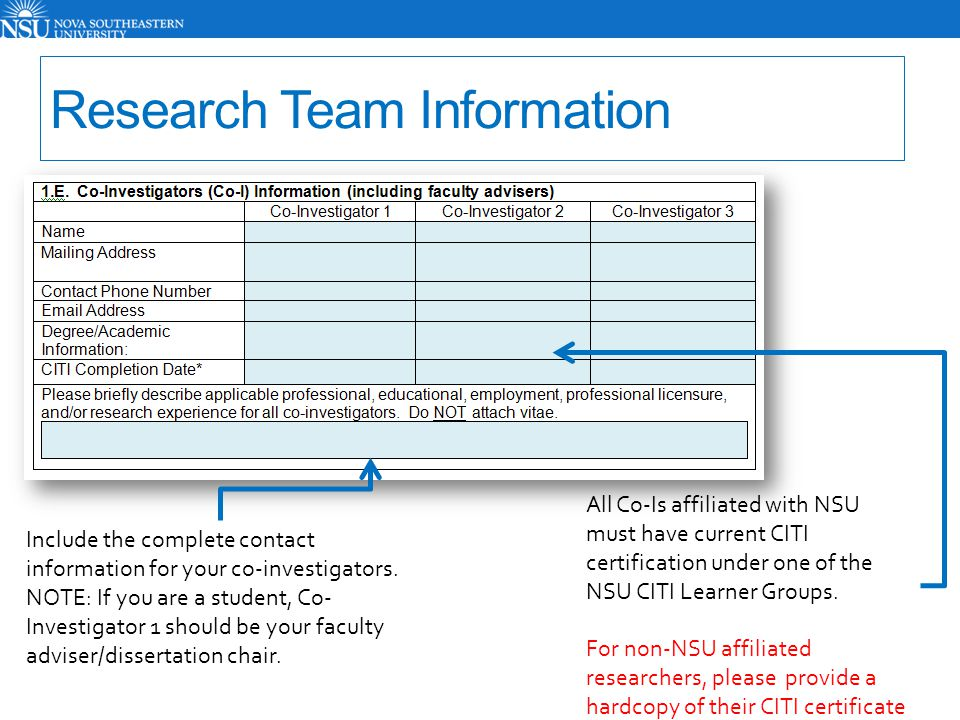 If the study team includes Research Assistants (RA's), please list those here.
