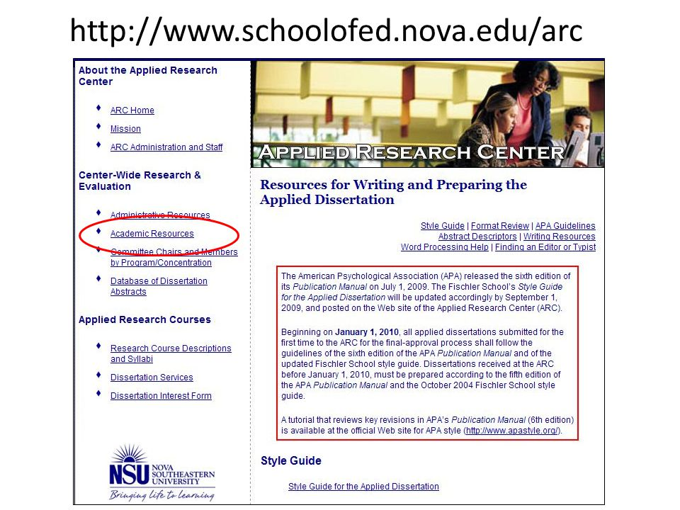 http://www.schoolofed.nova.edu/arc