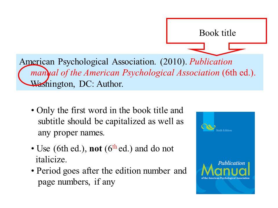 American Psychological Association. (2010).