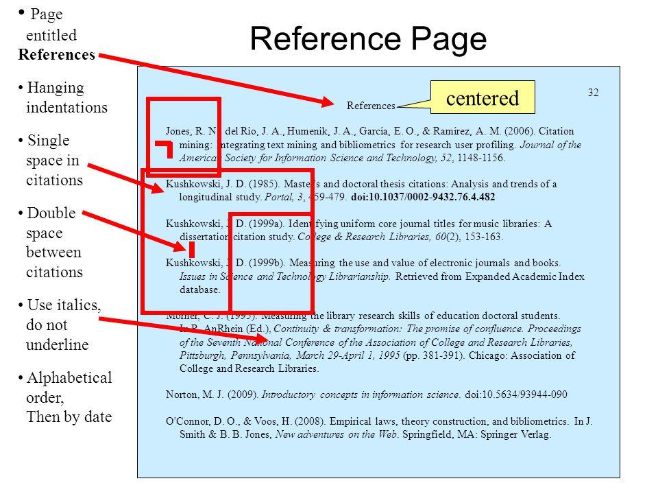 References Jones, R. N., del Rio, J. A., Humenik, J.
