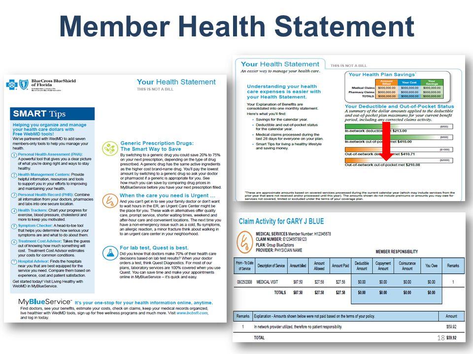 Member Health Statement 18