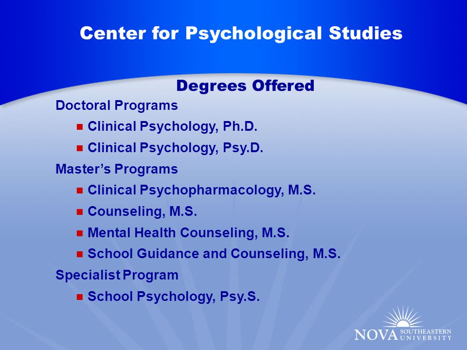 Master's Programs Clinical Psychopharmacology, M.S.
