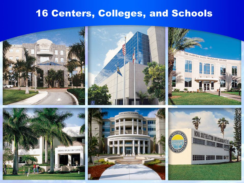 16 Centers, Colleges, and Schools