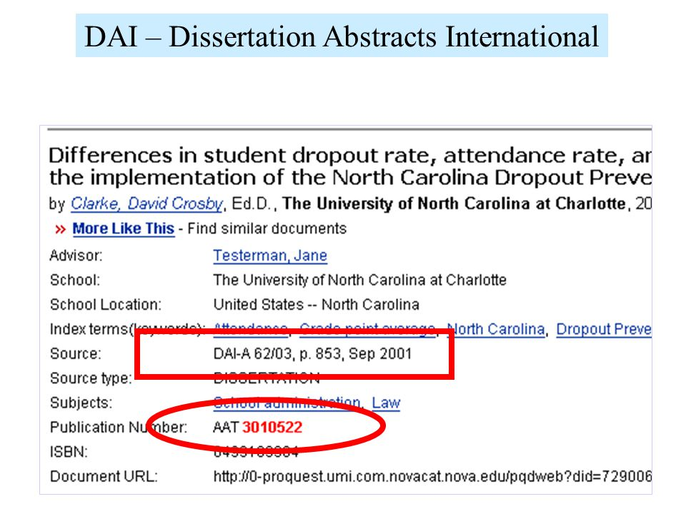 DAI – Dissertation Abstracts International