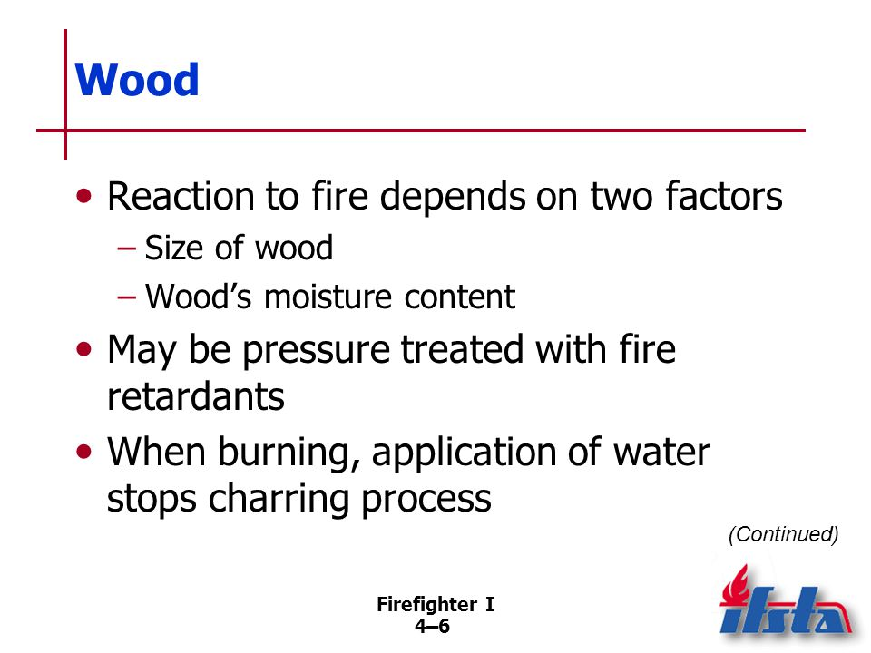 Firefighter I 4–47 Review Questions 4.What actions should be taken when imminent building collapse is suspected.