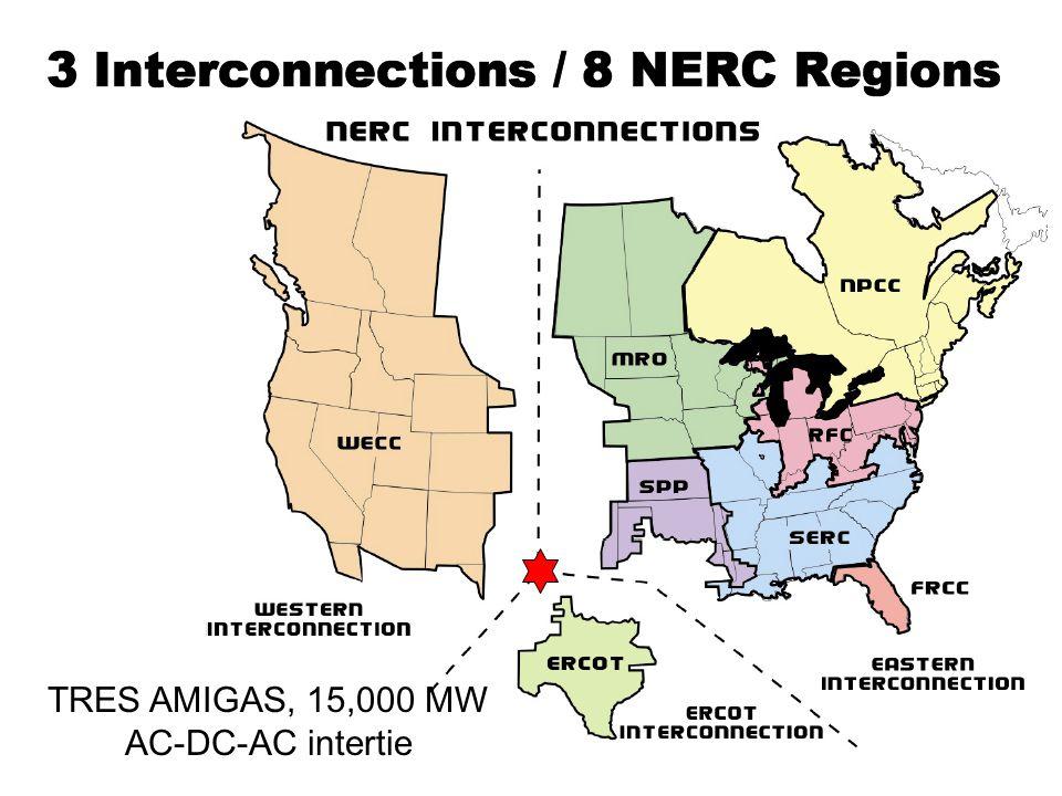 TRES AMIGAS, 15,000 MW AC-DC-AC intertie