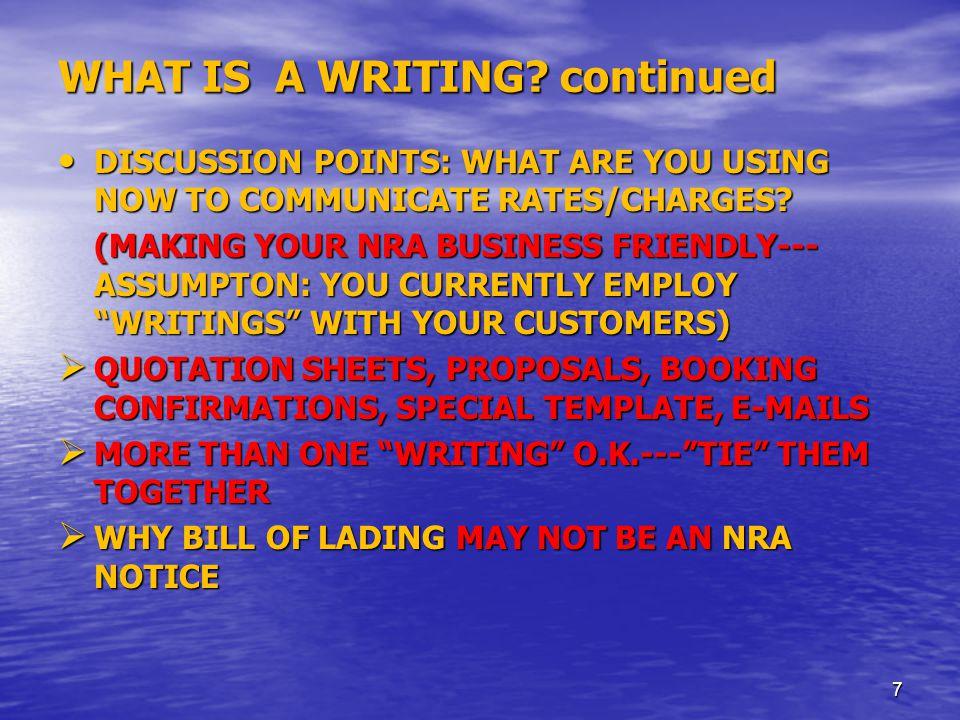"WHAT IS AN NRA? ""Negotiated Rate Arrangements "" FMC DEFINITION: ""NVOCC Negotiated Rate Arrangement means a written and binding arrangement between a s"