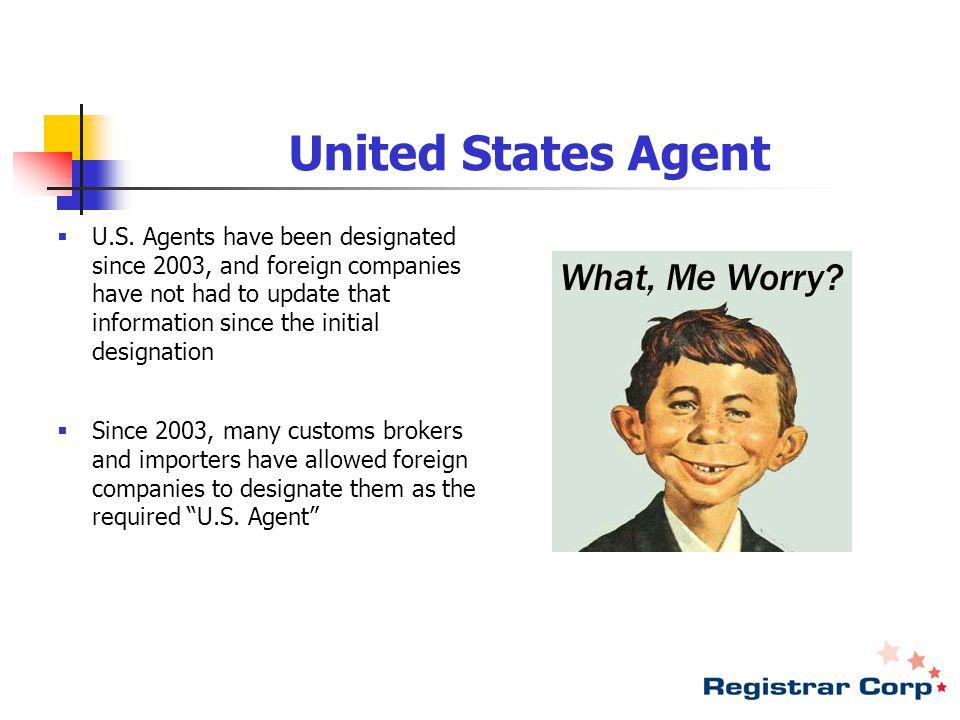 United States Agent  U.S.
